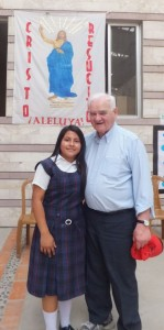 FR NORMAN AND STUDENT